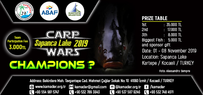 Carp Wars Sapanca Lake 2019